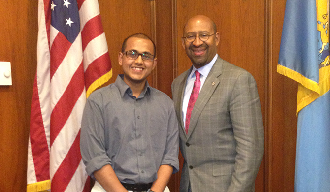 Nabil and Mayor Nutter