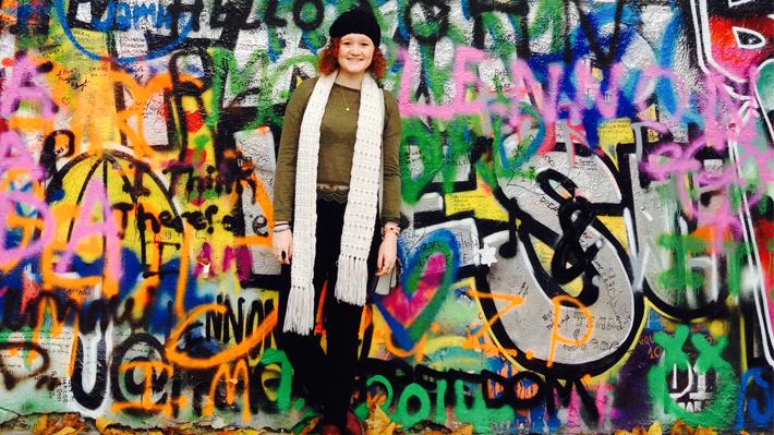 Grace Mellor abroad in Dublin
