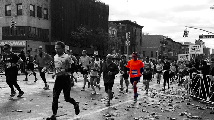 Sean Lewin at the NYC Marathon