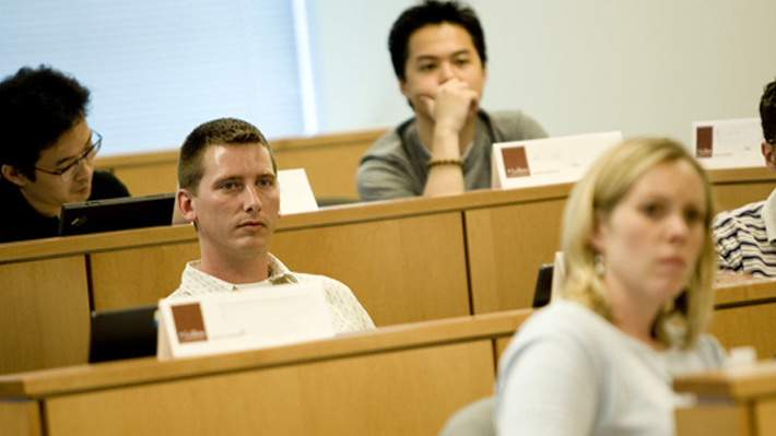 Students in MBA Class in Malvern