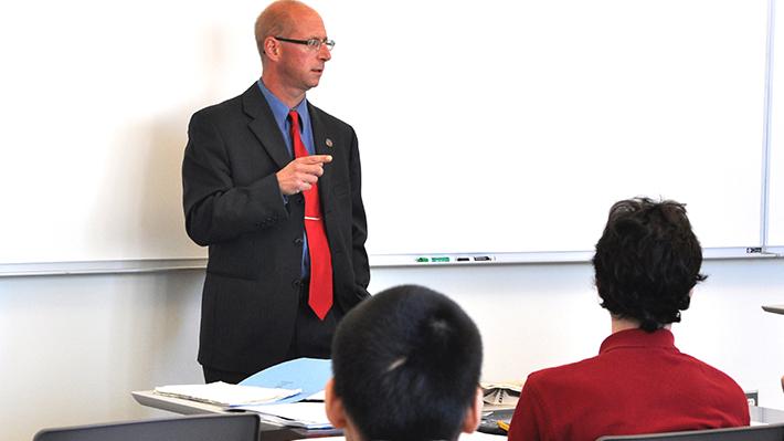 Professor teaching course
