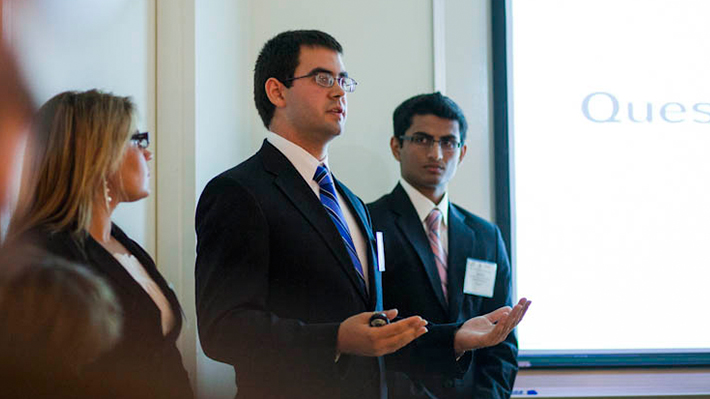 MBA Students Presenting at the Front of the Classroom