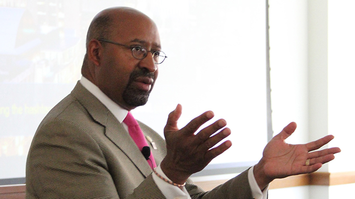 Philadelphia Mayor Michael Nutter Speaking to MBA Students