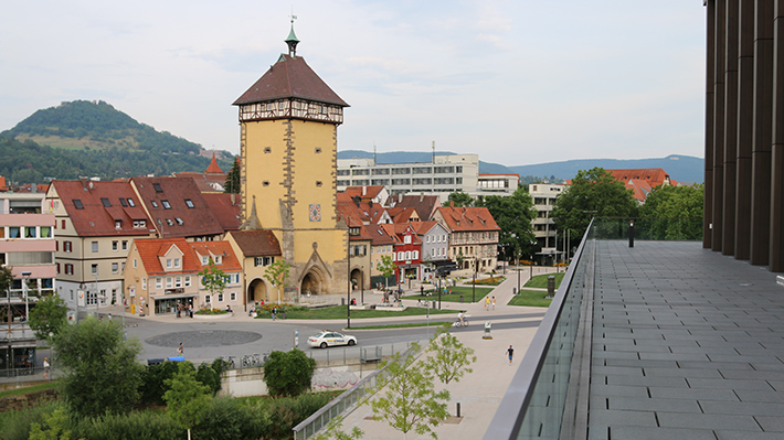 cityscape of Reutlingen University campus