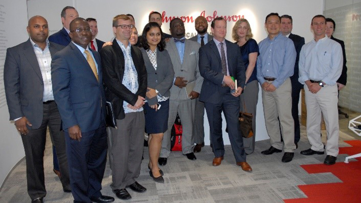 Executive MBA on international residency trip at Johnson & Johnson