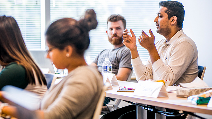 Drexel LeBow graduate students in classroom
