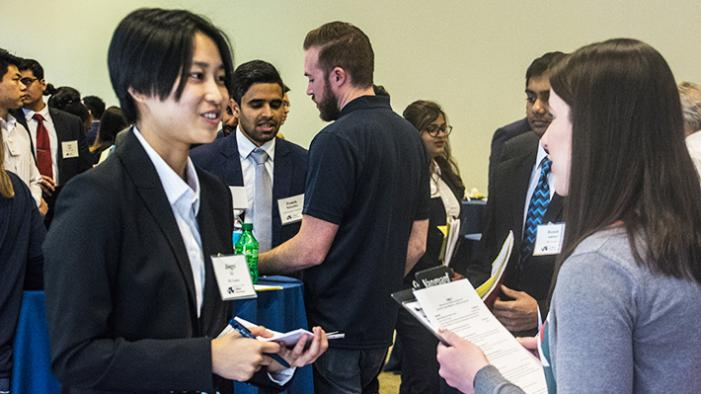 Students Networking at job fair