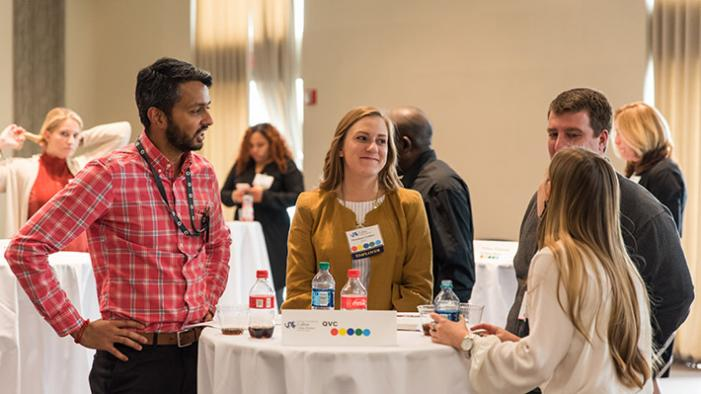 Students participate at networking event