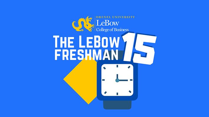 Graphic of Freshman 15 Event Series Logo
