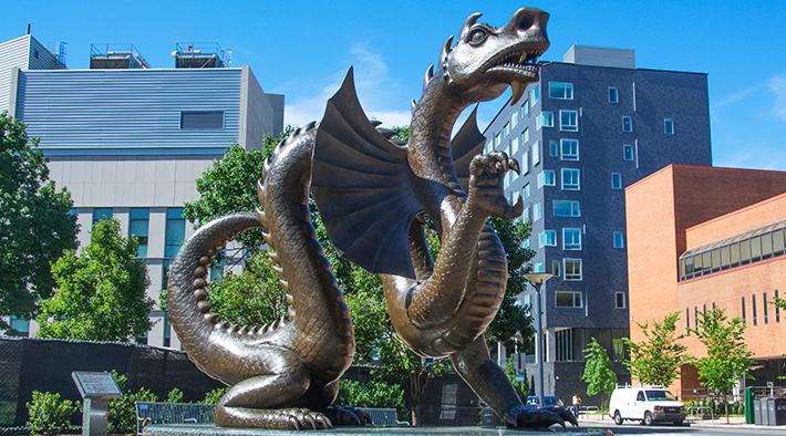 Mario the Dragon Statue, Drexel University