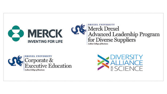 Merck Drexel Advanced Leadership Program for Diverse Suppliers logos