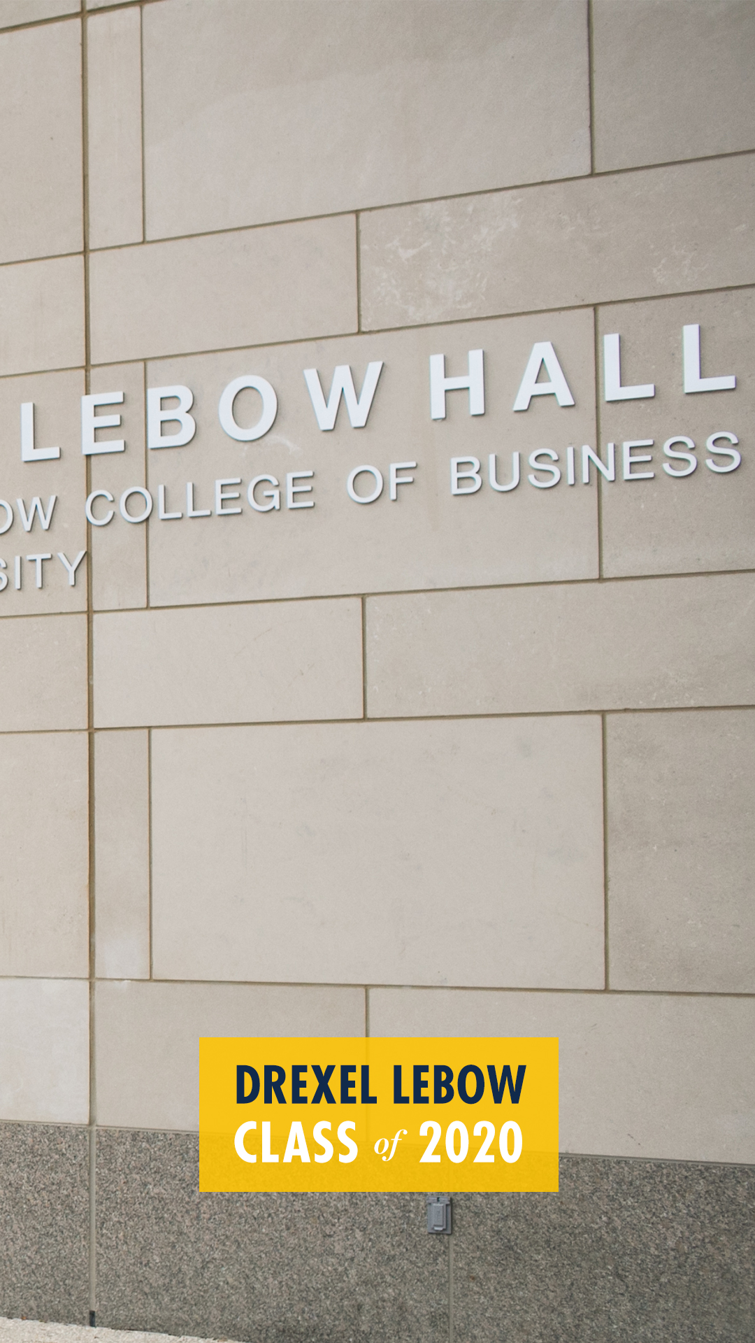 Gerri C. LeBow Hall Exterior Class of 2020 Mobile Background