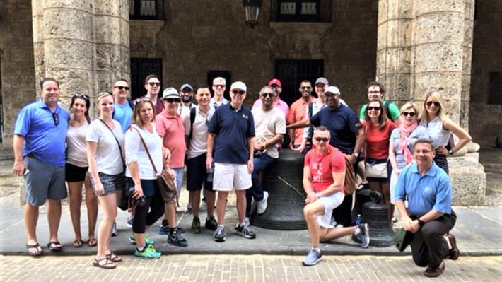 Drexel EMBA students, alumni and staff touring Old City Havana