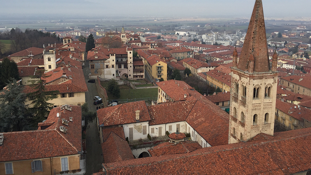 A view of Saluzzo from atop the Torre Civica