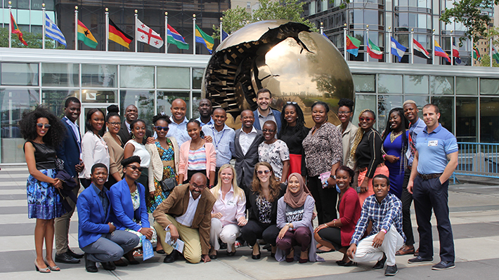 Mandela Fellows and Staff at the United Nations