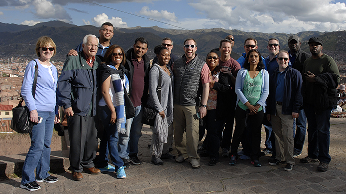 EMBA Students Pose in Cusco