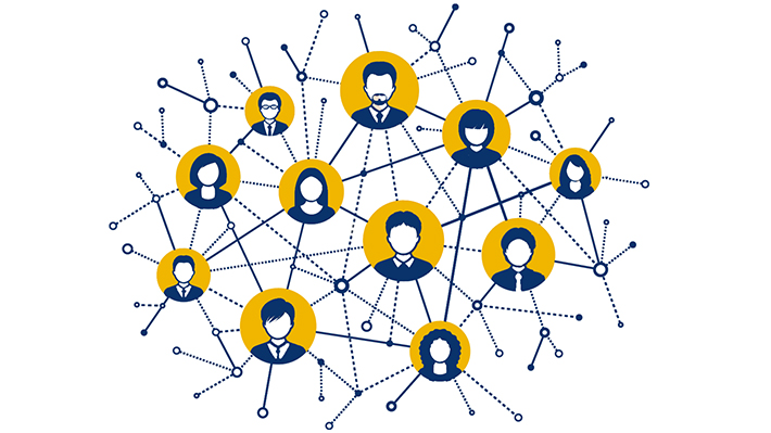Network of connected people