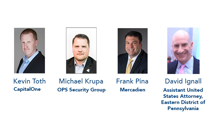 Frank Pina of Mercadien, Michael Krupa of OPS Security Group, Keith Toth of Capi