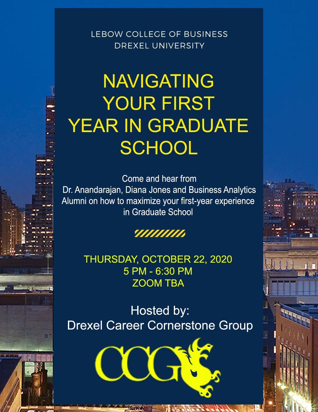 Navigating your first year in graduate school: OCTOBER 22ND AT 5pm