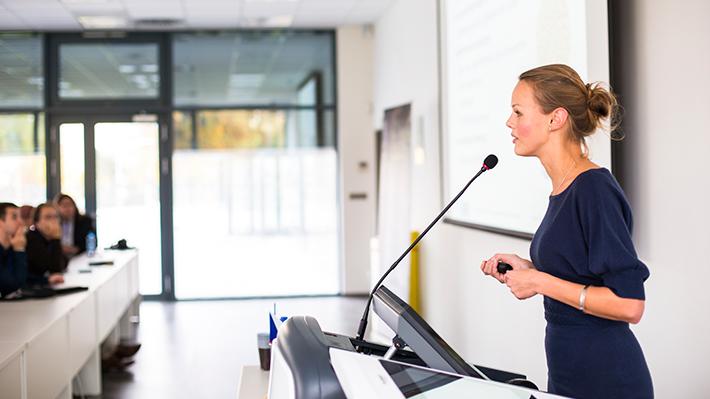 Leadership Development Executive MBA Student Presenting