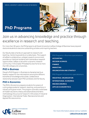 PhD General Fact Sheet