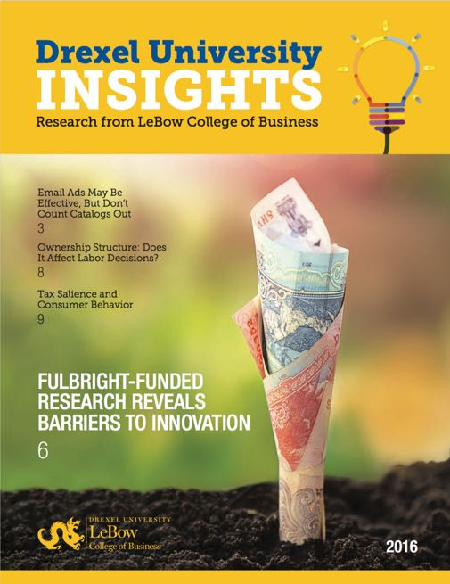 Drexel University Insights Cover 2016