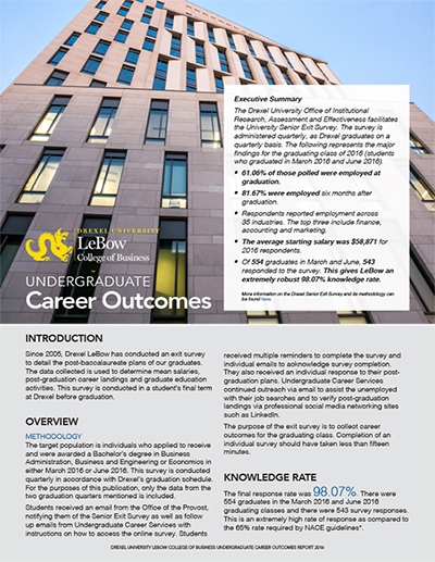 Spring 2016 Career Outcomes Report