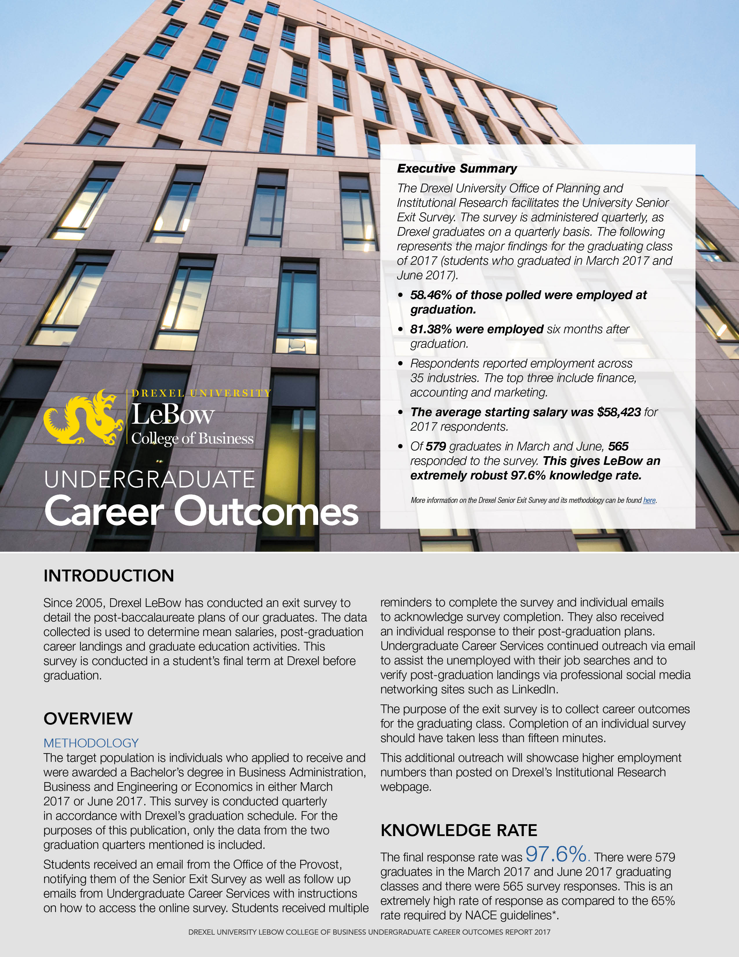 Career Outcomes 2017 Report