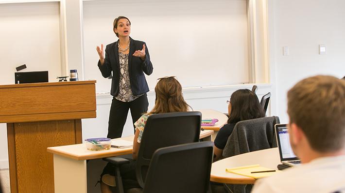 Organizational Management Classroom and Professor