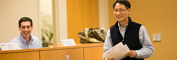 Hsihui Chang, PhD, Professor of Accounting teaching class