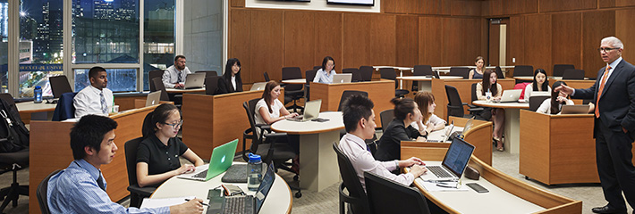 MBA students in the classroom