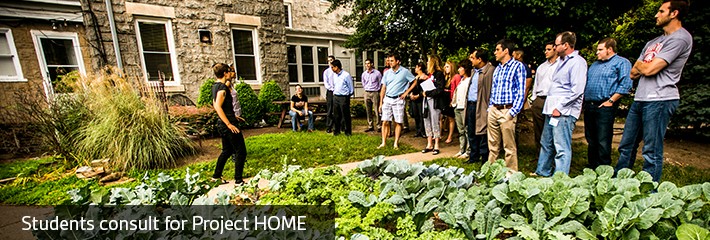 MBA students visit Project Home's kale garden