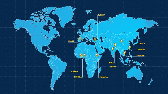 International Student Leader Map