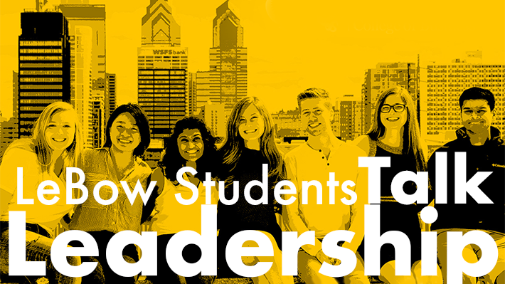 LeBow students talk leadership poster image