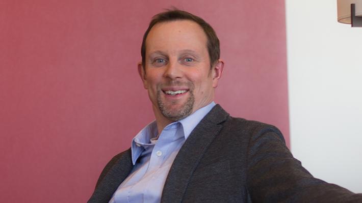 Candid photo of Mark Stehr