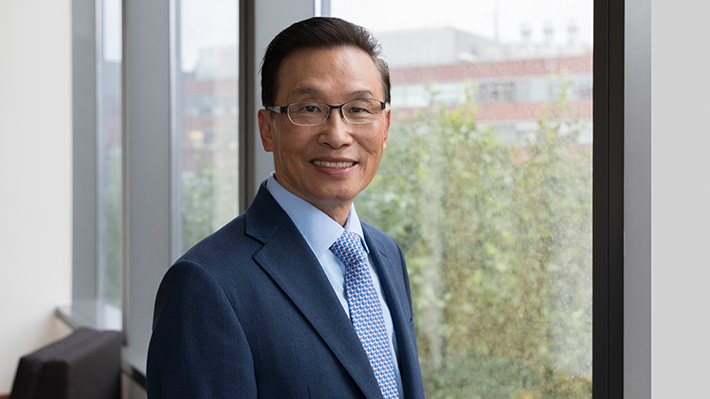 Candid photo of Thomas Chiang