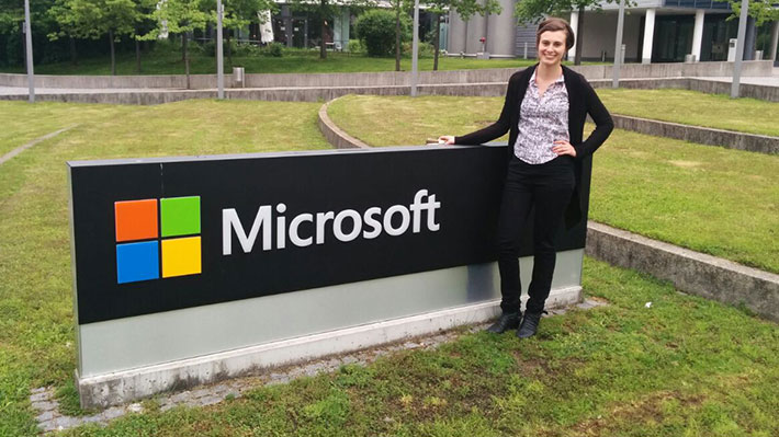 Nicole Dolack at Microsoft Headquarters in Munich, Germany