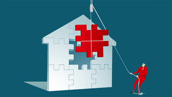 Illustration of Puzzle in a House