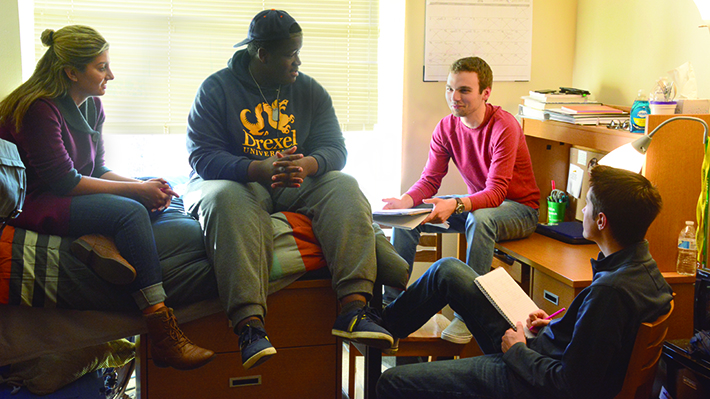 LeBow Learning Community Students in Residence Hall