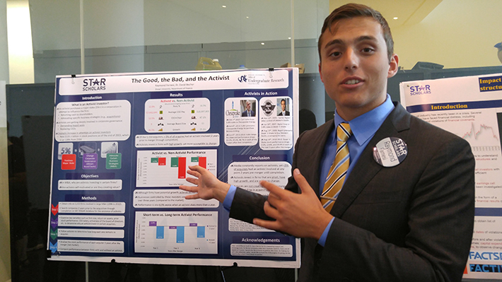 Raymond Farnesi presenting his STAR Scholar research