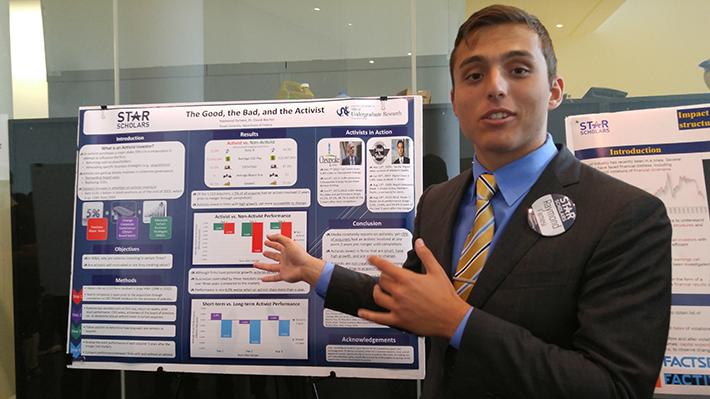 Raymond Farnesi presenting his STAR Scholar research