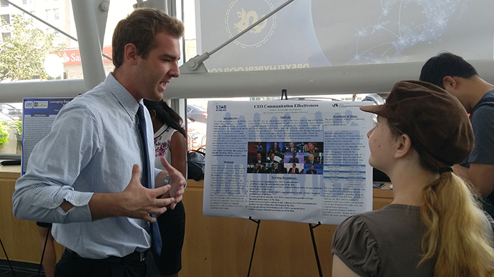 Brandon Jones presenting STAR Scholar Research