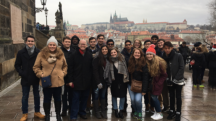 students in Prague