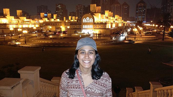 Clinton Scholar Krishna Desai in Dubai