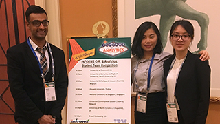 Arjun Arora, Hong Li and Ran Zhang at INFORMS conference