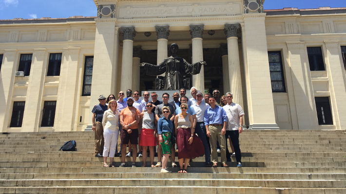 LeBow Executive MBA students and alumni in Havana, Cuba