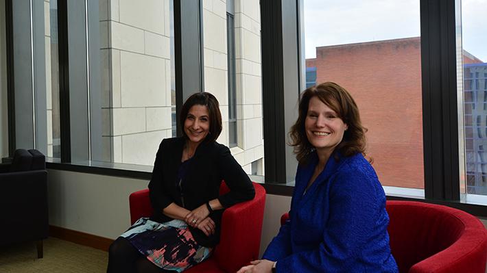 Lisa DeLuca and Teresa Harrison Assessment and Pedagogy Award Winners