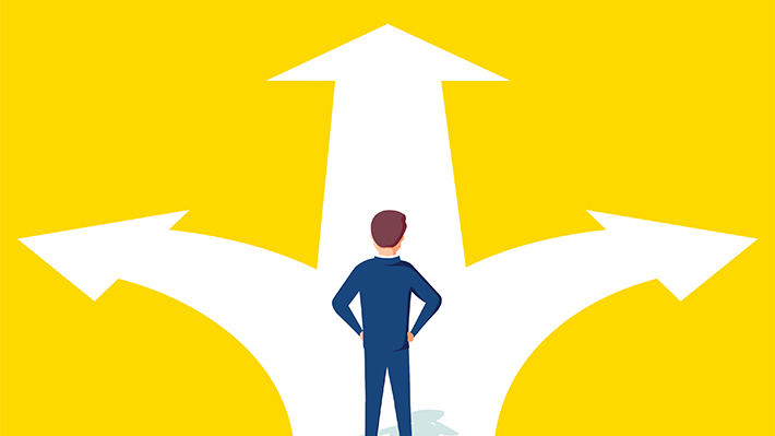 Man Stands at a Crossroads - How to get an MBA