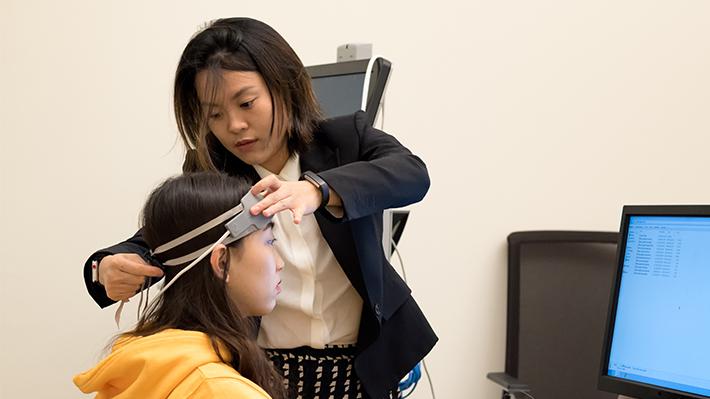 PhD student Hongjun Ye in LeBow's Neuro-Behavioral Lab