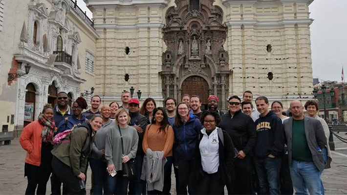 LeBow MBA and MS students in Lima, Peru